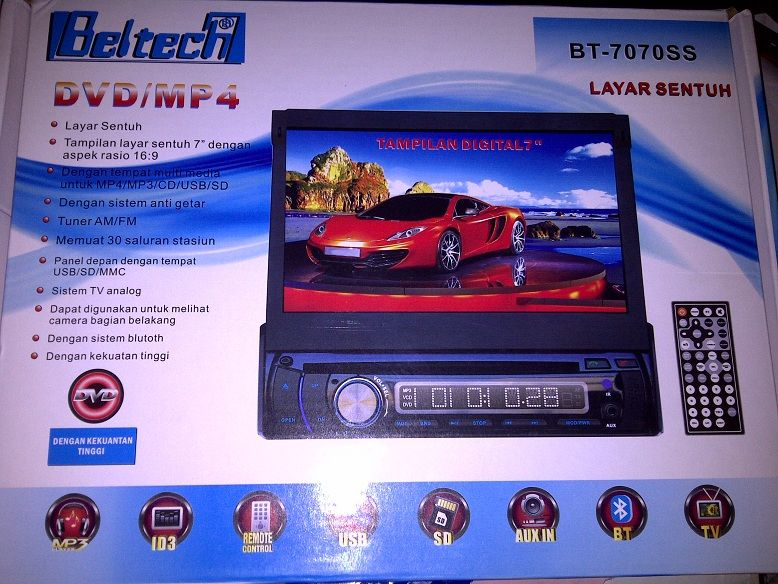 DVD DOUBLE DIN TOUCHSCREEN BLUETOOTH SALEEEE GILA BURUAN Rp 1.375.000