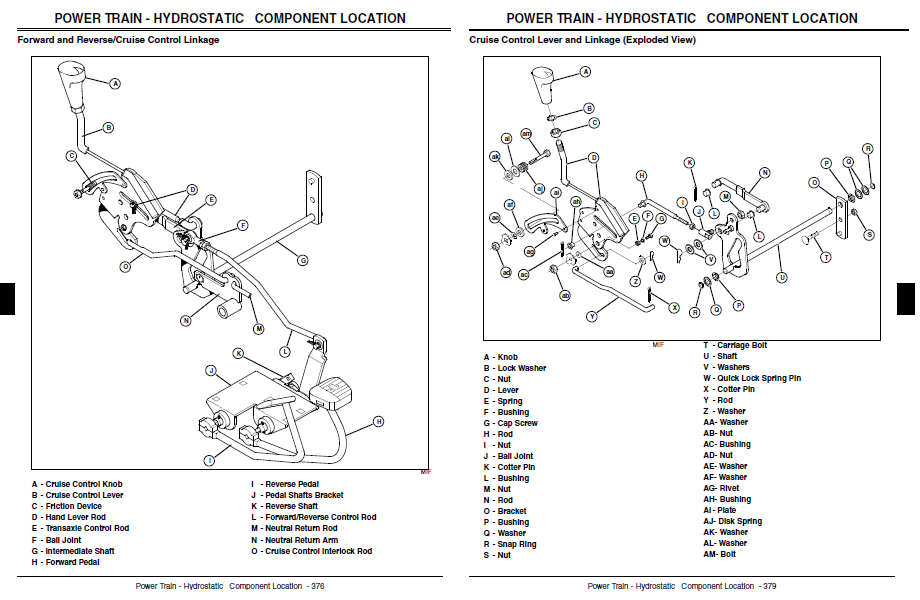 john deere lx288 parts diagram