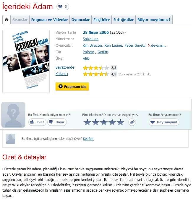 İçerideki Adam - 2006 BDRip x264 - Türkçe Altyazılı Tek Link indir